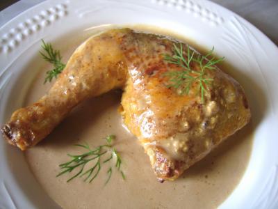 cuisses de poulet sauce moutarde recette sauces. Black Bedroom Furniture Sets. Home Design Ideas