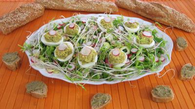 Oeufs durs à la tapenade - recette - Légumes - Supertoinette