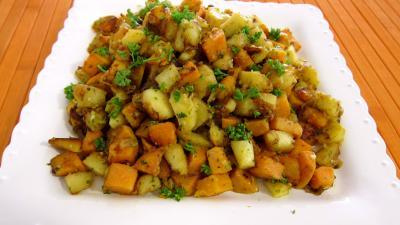 panais et patates douces aux épices - supertoinette, la cuisine