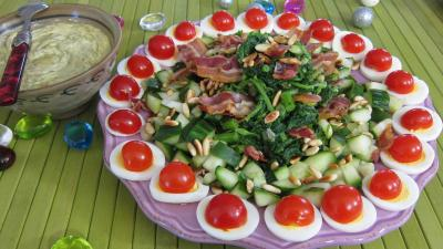 Salade de broutes recette entr es froides supertoinette for Idee entree froide facile