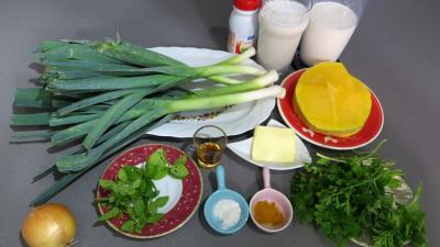 poireaux lact s la menthe recette soupes potages supertoinette. Black Bedroom Furniture Sets. Home Design Ideas