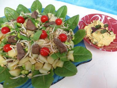 Salade en sauce verte recette entr es froides supertoinette - Salade verte calorie ...