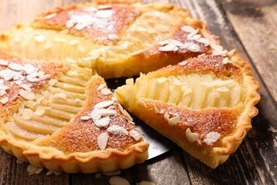 Tarte frangipane aux poires et au chocolat recette desserts supertoinette - Recette tarte aux chocolat ...