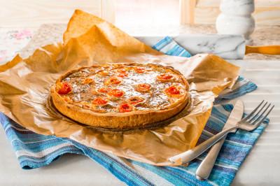 Recette tarte au thon, tomates cerise et fromage frais..