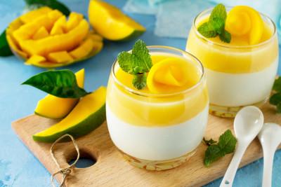 Panna Cotta A La Mangue Et Lait De Coco Recette Desserts