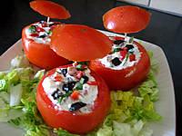 Tomates farcies aux fromages - Supertoinette, la cuisine..