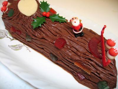 b che de no l au chocolat recette desserts supertoinette. Black Bedroom Furniture Sets. Home Design Ideas