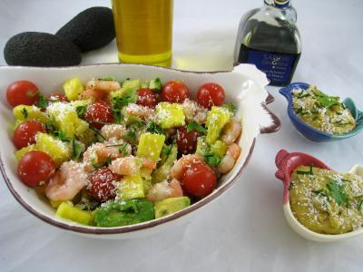 salade l 39 ananas exotique fa on pierrot recette entr es salades supertoinette. Black Bedroom Furniture Sets. Home Design Ideas