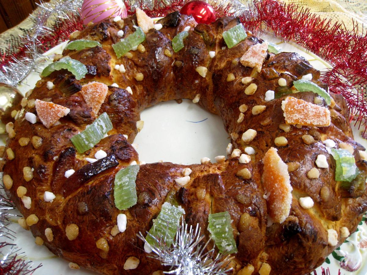 brioche en couronne de l'avent - recette - desserts - supertoinette